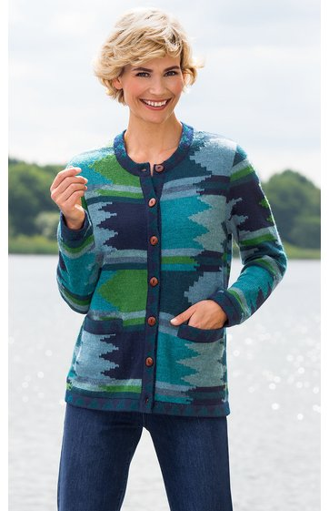 Alpaka-Strickjacke