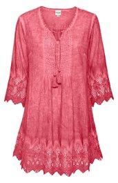 baumwoll bluse in rosenholz 239640 dw shop. Black Bedroom Furniture Sets. Home Design Ideas