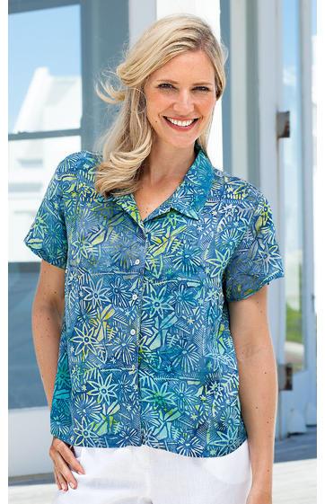 hangebatikte bluse online kaufen bei dw shop 234666. Black Bedroom Furniture Sets. Home Design Ideas