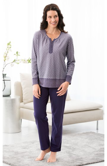 the latest 3cc8f c25d7 Baumwoll-Pyjama